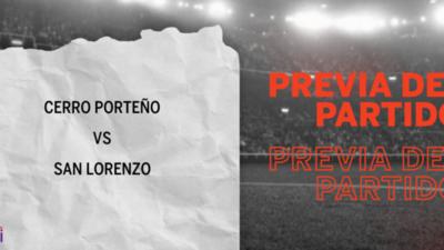 Cerro Porteño enfrenta a San Lorenzo buscando seguir en la cima de la tabla