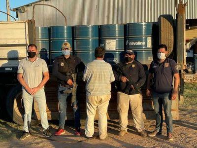 Incautan 16.000 litros de carga de precursores químicos en el Chaco