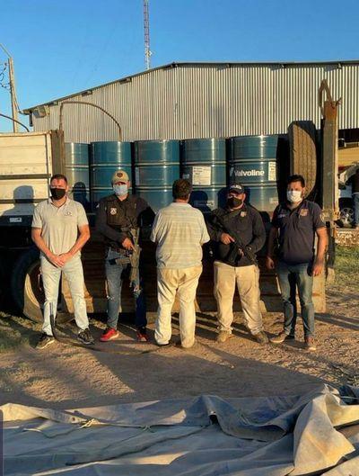 Incautan en el Chaco 16.000 litros de materia prima para elaborar drogas