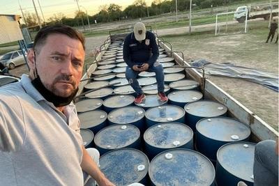 Incautan en el Chaco el mayor cargamento de precursores químicos, 16 mil litros de acetona