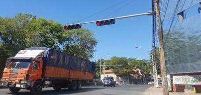 Semáforos fuera de servicio a causa de la falta de electricidad