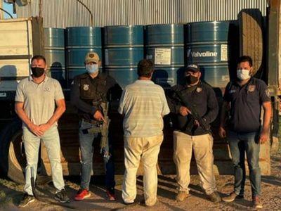 Incautan mayor carga de precursor de droga en  el Chaco