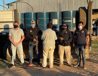 Chaco: Fiscalía imputó a chofer que transportaba gran cargamento de acetona