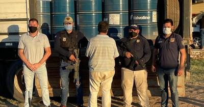 La Nación / Fiscal imputó a chofer que transportaba gran cargamento de acetona