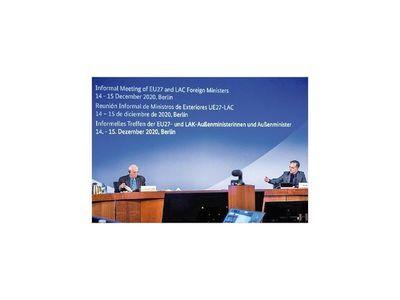 En reunión de cancilleres  de la UE y ALC, canciller pide  acceso equitativo a vacuna