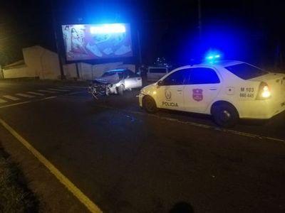 Conductor chocó contra una columna de la Ande sobre la avenida Madame Lynch de Asunción