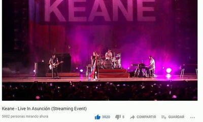 Keane inmortaliza show en Asunción
