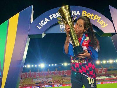 Del gol en la final al título: Fany Gauto es campeona con Santa Fe en Colombia