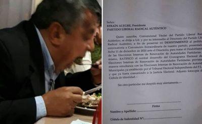 Convencionales van a desistir del pedido del cartollanista Agustín Torres de Pedro Juan Caballero