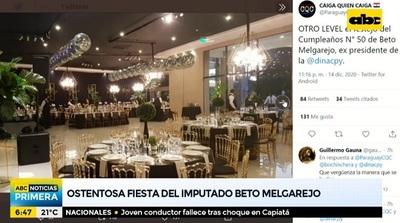 Expresidente de Dinac celebra cumpleaños con ostentosa fiesta
