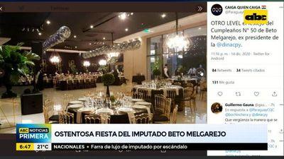 Ostentosa fiesta de cumpleaños del imputado Beto Melgarejo