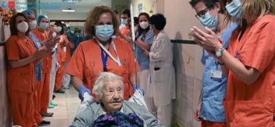 Abuela de 104 años venció al covid-19