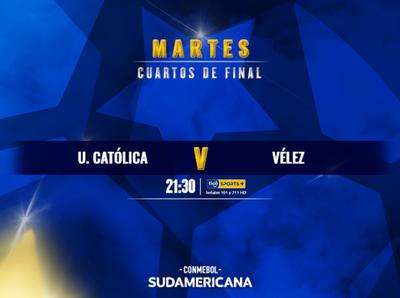 Universidad Católica y Vélez buscan su tercera semifinal de Sudamericana