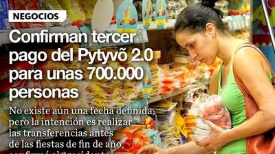 ▶¡Confirmado! Tercer pago del Pytyvõ 2.llegará a 700.000 personas