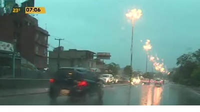 Así está el tráfico vehicular en la Transchaco