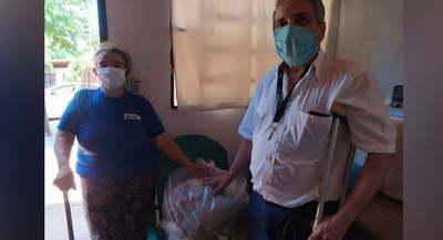 Gobernación de Caazapá asiste a personas con discapacidad
