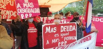 Partido Paraguay Pyahurã realiza manifestación en Coronel Oviedo