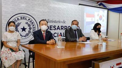 Corea donó 220 computadoras al Ministerio de Desarrollo Social y otras instituciones