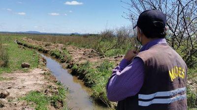 Mades detectó que fue alterado el curso de una naciente en Carapeguá