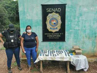 SENAD detuvo a distribuidora de drogas en Concepción