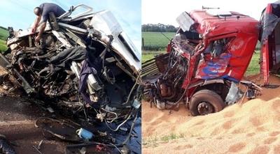 HOY / Alto Paraná: choque entre camiones de gran porte deja saldo de dos fallecidos