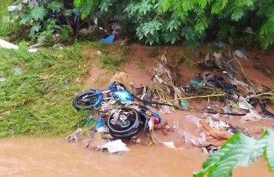 Lluvias causan inundaciones, el rebose de arroyos y desaparición