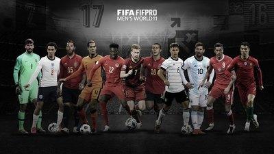 Solo dos sudamericanos en el equipo ideal del año de la FIFA
