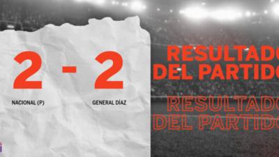 Empate a 2 entre Nacional (P) y General Díaz