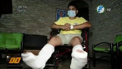 Bombero sufre fracturas durante búsqueda de joven