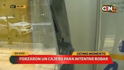 Intentan abrir un cajero automático en el microcentro