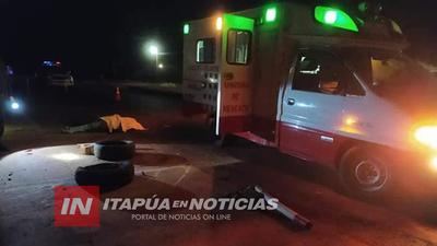 MOTOCICLISTA FALLECE TRAS CAER AL PAVIMENTO SOBRE LA RUTA 7
