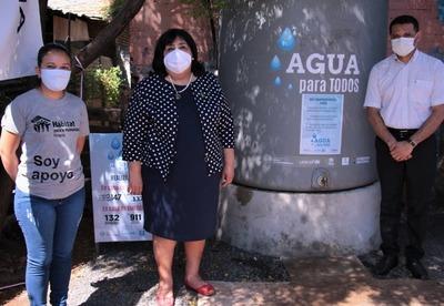 Instalaron tanques de agua potable en Bañado Sur para beneficiar a familias más vulnerables