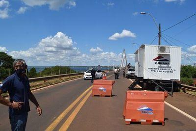 Aduanas habilita control en la boca del puente internacional de Encarnación