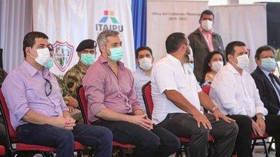 Mario Abdo y Horacio Cartes, aparecen juntos en acto oficial