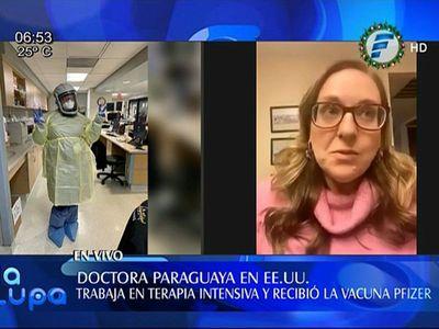 """""""La vacuna es una luz de esperanza"""", dice médica paraguaya en EEUU"""