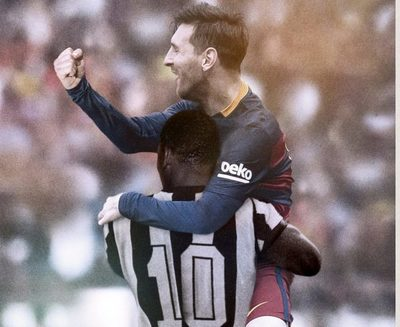 Messi iguala a Pelé, pero es un 'rey sin castillo'