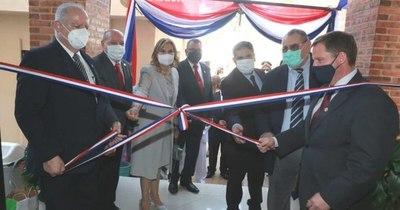 La Nación / Ministros de la Corte inauguraron Juzgado de Primera Instancia de Alberdi