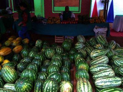 En plena sequía,  fruta de  21 kilos es   campeona de Expo Sandía de Tavapy