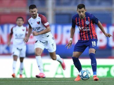 Asistencia y gol de los Romero en San Lorenzo