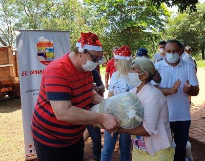 Más de 100 toneladas de alimentos fueron distribuidos por la gobernación