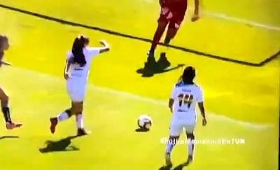 Lujoso gol de rabona en el fútbol femenino