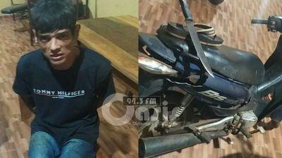 Policía detuvo a peligroso delincuente y recupera tres motocicletas en Pedro Juan