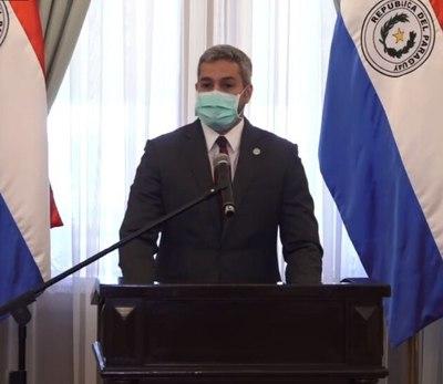 Presidente Abdo promulgó uso obligatorio de mascarillas y ley de vacunas