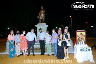 Administración Municipal inaugura mejoras y restauración de la Plaza Capitán Pedro Juan Caballero en su Centenario