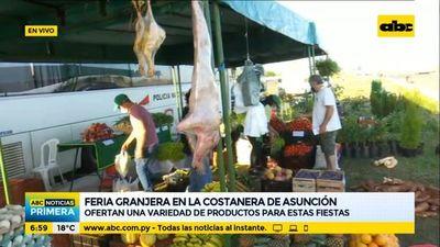 Volvió la feria granjera a la Costanera de Asunción