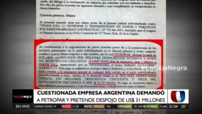 """HOY / """"Transa antinacional"""": Documento contempla US$ 3 millones """"para abogado"""""""
