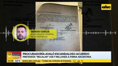 """Procuraduría avaló acuerdo que pretendía """"regalar"""" USD 7 millones a firma argentina"""