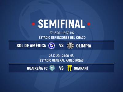 La agenda de las semifinales