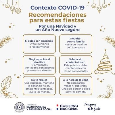 Noche Buena y Navidad: Salud Pública indica algunos puntos para evitar contagio