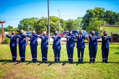 Juran primeros bomberos en Puerto Antequera